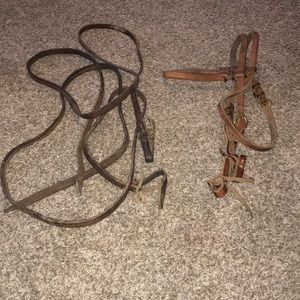 Western Headstall with Reins